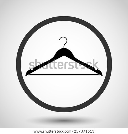 Hanger vector icon - black illustration - stock vector