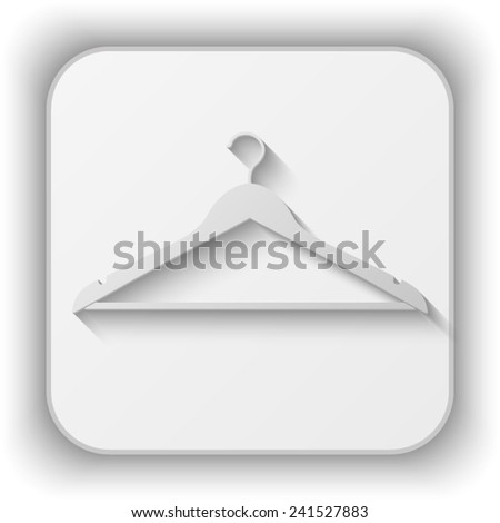hanger vector icon - paper button  - stock vector