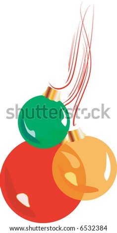 Hanging Glass Ornaments - stock vector