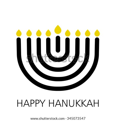 Hanukkah sign, vector illustration - stock vector
