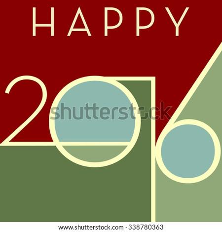 Happy 2016 - stock vector