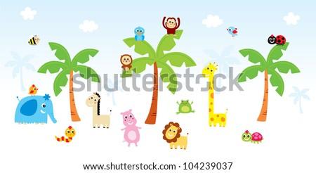 happy animal - stock vector