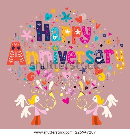 Happy Anniversary - stock vector