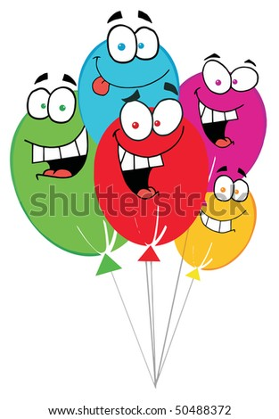 Happy Birthday Baloons - stock vector
