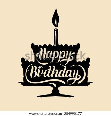 Happy Birthday Calligraphy Stock Photos Images