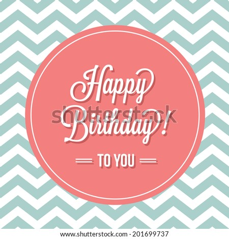 Happy Birthday Card - stock vector