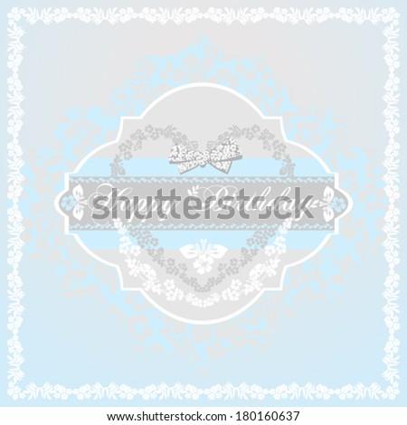 Happy birthday card for boys. Blue , gray, white shabby color. Vector Version - stock vector