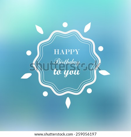 Happy birthday card. Retro design  - stock vector