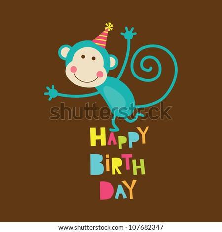 happy birthday card. vector illustration - stock vector