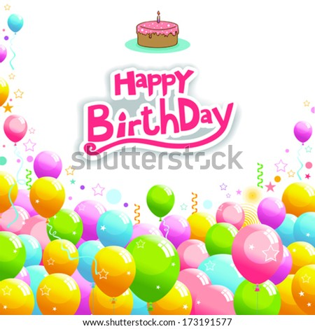 Happy Birthday concept - stock vector