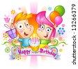 Happy birthday Congratulations - stock vector