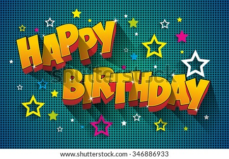 Happy Birthday Greeting Card On Background vector Illustration - stock vector