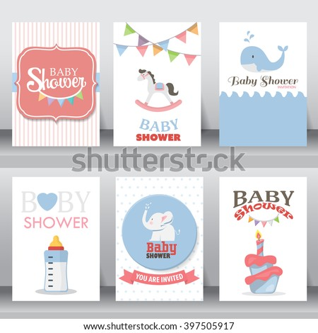happy birthday, holiday, baby shower celebration greeting and invitation card.  there are shoes, moon, dress. layout template in A4 size. vector illustration. text can be added - stock vector