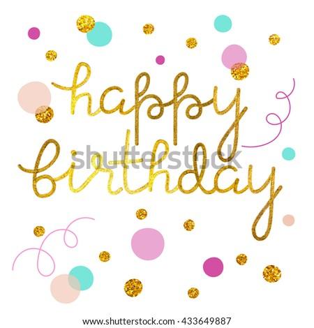 Happy birthday illustration - stock vector
