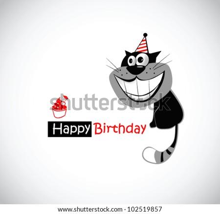 Happy Birthday KAT - stock vector