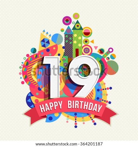 19th Birthday Stock Photos Images Pictures Shutterstock Happy 19th Birthday Wishes