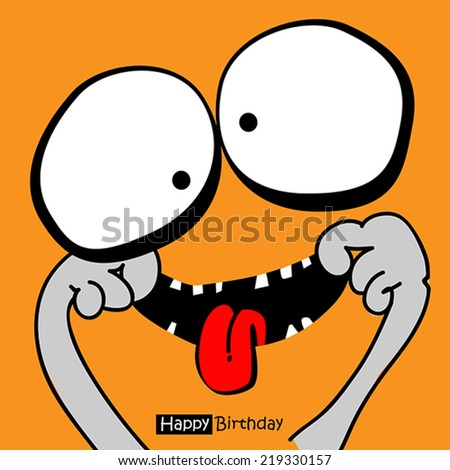 Happy Birthday smile - stock vector