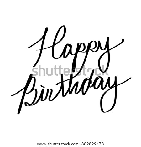 Happy Birthday text isolated on white background - stock vector