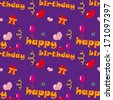 Happy Birthday Texture - stock vector