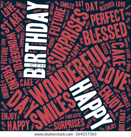 Happy Birthday typography seamless background pattern in vector - stock vector