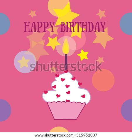 Happy Birthday. Vector illustration. - stock vector