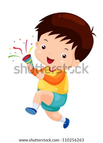 Happy boy, congratulations - stock vector