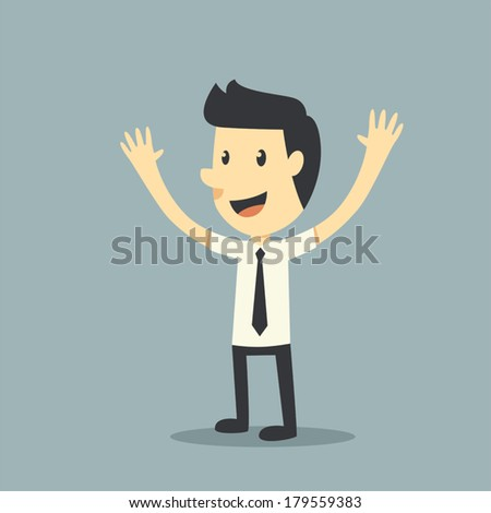 Happy businessman - stock vector