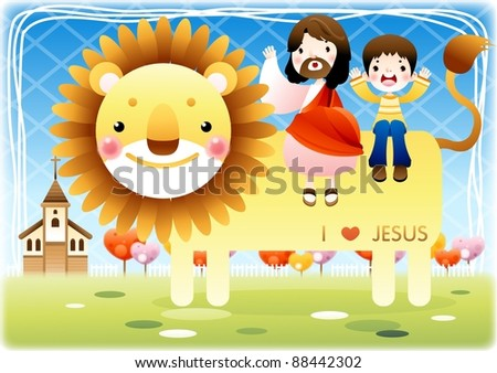 Happy Christian - stock vector