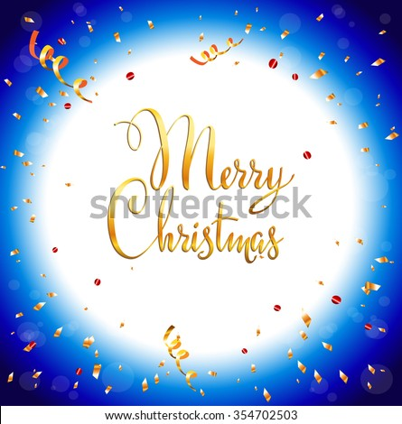 Happy Christmas background with place for text. Holiday design for card, banner,ticket, leaflet and so on. - stock vector