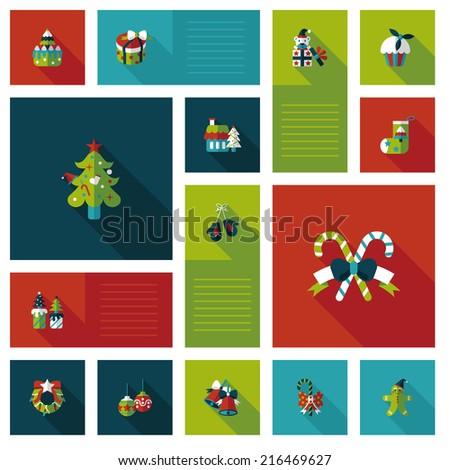 Happy Christmas flat app ui background,eps10 - stock vector