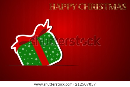 Happy Christmas Vector Background with Gift box. EPS 10. Easy to edit. Perfect for invitations or announcements. - stock vector
