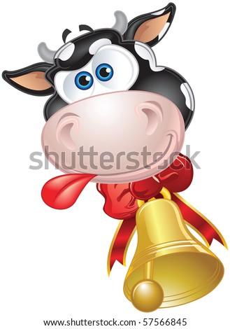 Happy Cow - stock vector