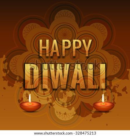 Happy Diwali colorfu card background vector - stock vector