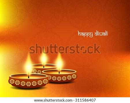 Happy Diwali elegant vector background design. - stock vector