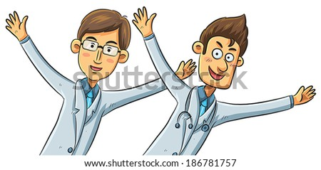 Happy Doctors - stock vector