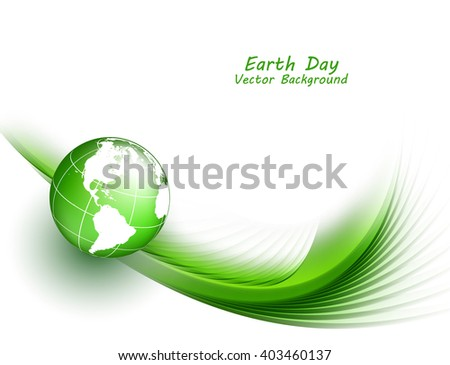 Happy earth day. Vector background with copy space. Eps10 - stock vector