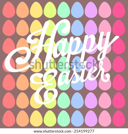 Happy Easter Background.vector - stock vector