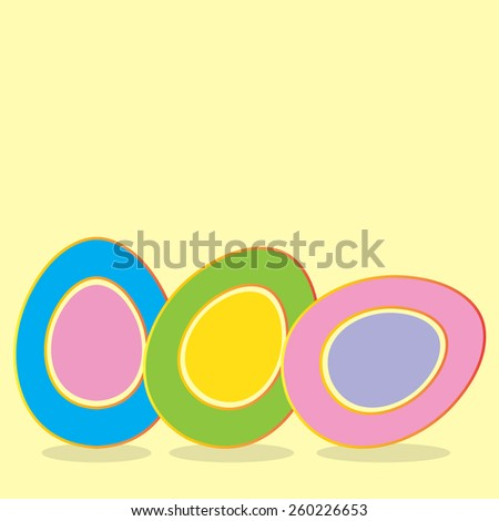 Happy Easter background with eggs. Vector illustration. - stock vector
