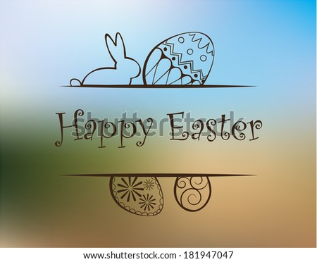 Happy easter card. - stock vector
