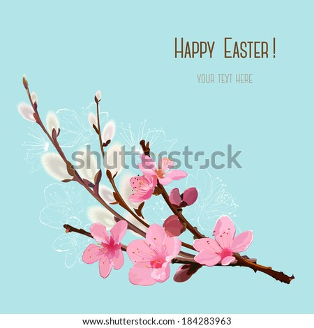 Happy Easter Card - stock vector