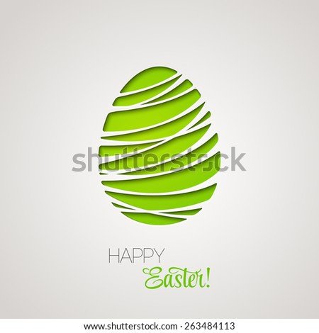 Happy Easter decorated card paper egg. Vector design. Easter Egg Bright.Easter Egg Artistic.Easter Egg One. Easter Egg Art.Easter Egg Vector.Easter Egg Paint. Easter Egg Background. Easter Egg Design. - stock vector