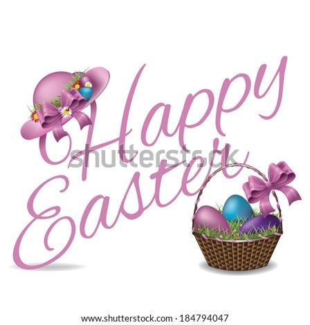 Happy Easter design EPS 10 vector - stock vector