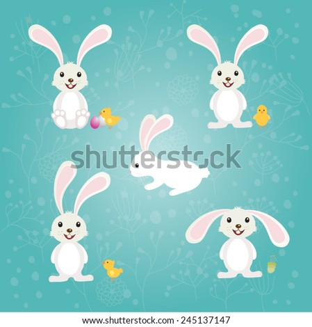 Happy Easter | Easter Bunny  - stock vector