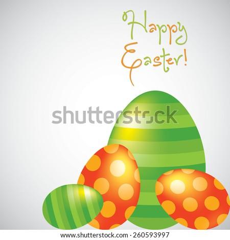 Happy Easter egg card in vector format. - stock vector