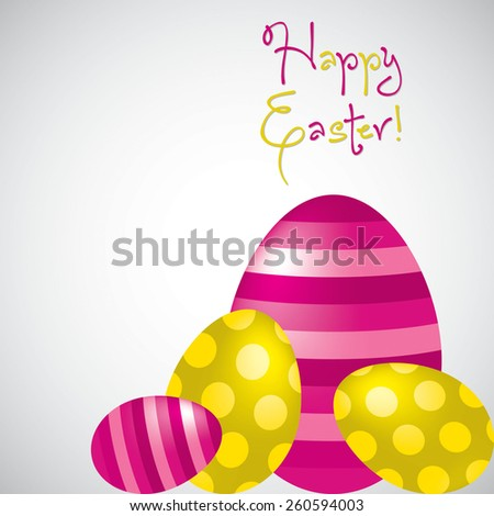 Happy Easter egg card in vector format. - stock vector