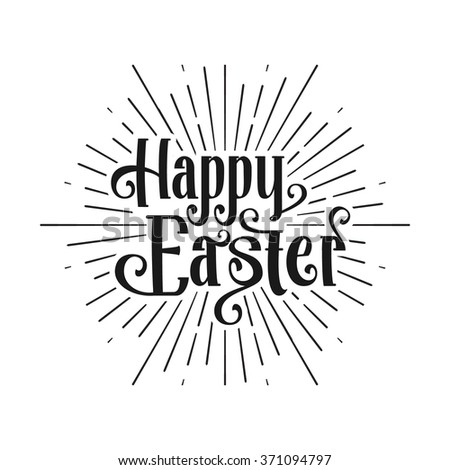 Happy Easter greeting card. Easter sale. Hand Drawn logo lettering. Easter Holidays lettering for invitation, greeting card, prints and posters. Typographic design. Vector illustration. - stock vector