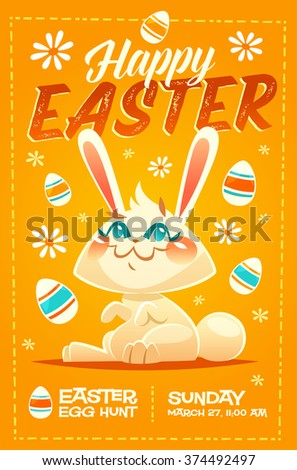 Happy Easter greeting card. Vector illustration - stock vector