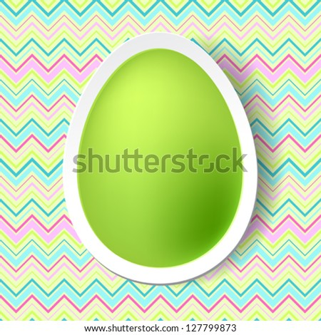 Happy Easter greeting card with eggs. - stock vector