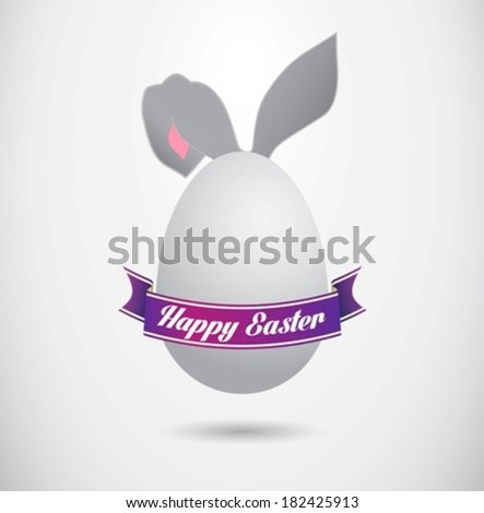 Happy easter poster eps10 - stock vector