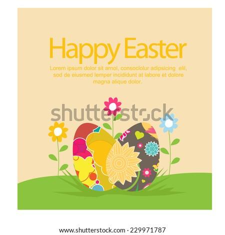 Happy Easter. vector - stock vector